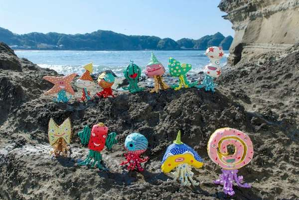 Tentacled Seaside Installations