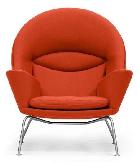 roomy retro armchairs oculus chair