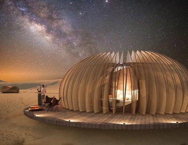 Shapeshifting Desert Living Pods
