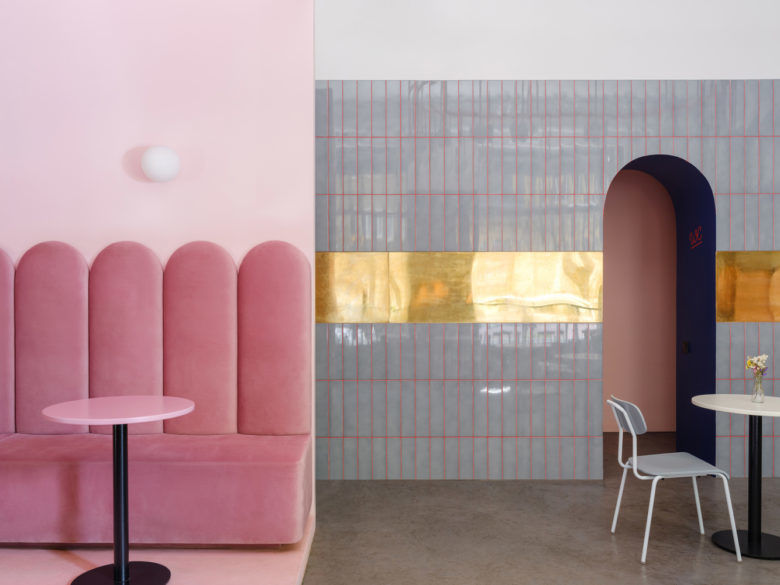 Stylish Pink Brunch Cafes