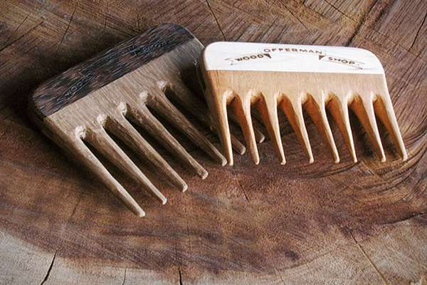 Wooden Whisker Groomers