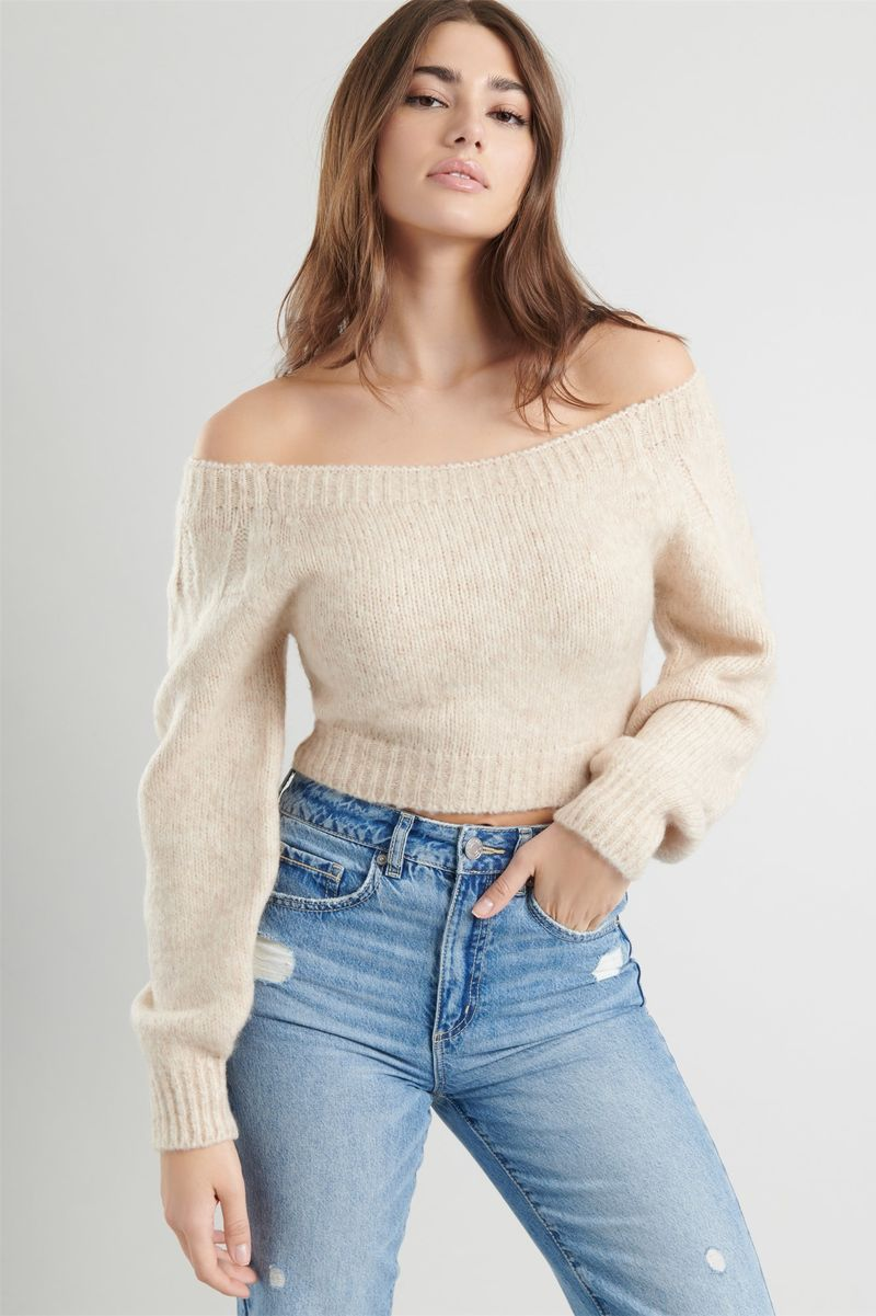 Sophisticated Off-the-Shoulder Knits
