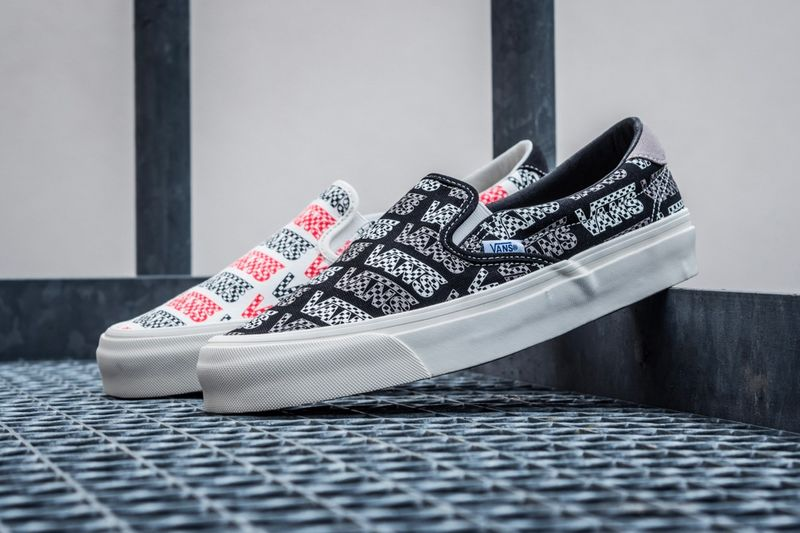 Classic Logo Patterning Sneakers - Vans' OG Slip-On 59 LX Footwear Models Arrive in Two Colorways (TrendHunter.com)
