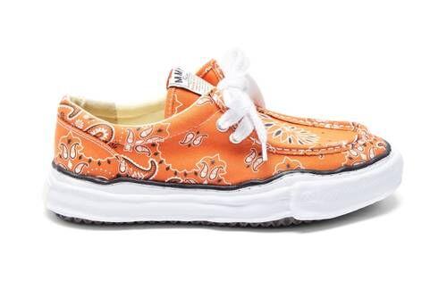 Moccasin-Style Bandana Sneakers