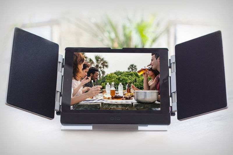 Tablet-Mounting Theater Speakers