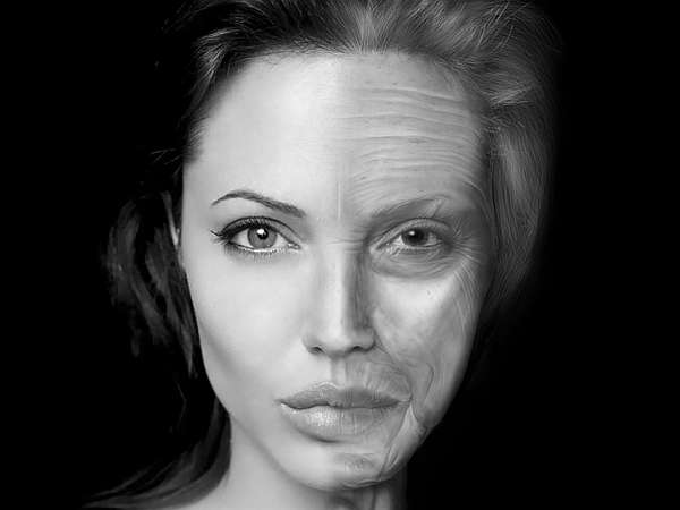 Photoshop tidsforskudt Aging Angelina Video-8260