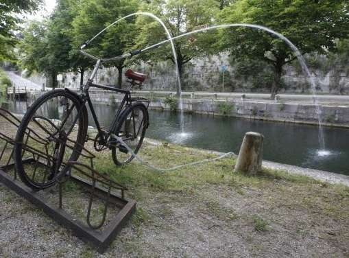 Upcycled Bicycle Sprinklers