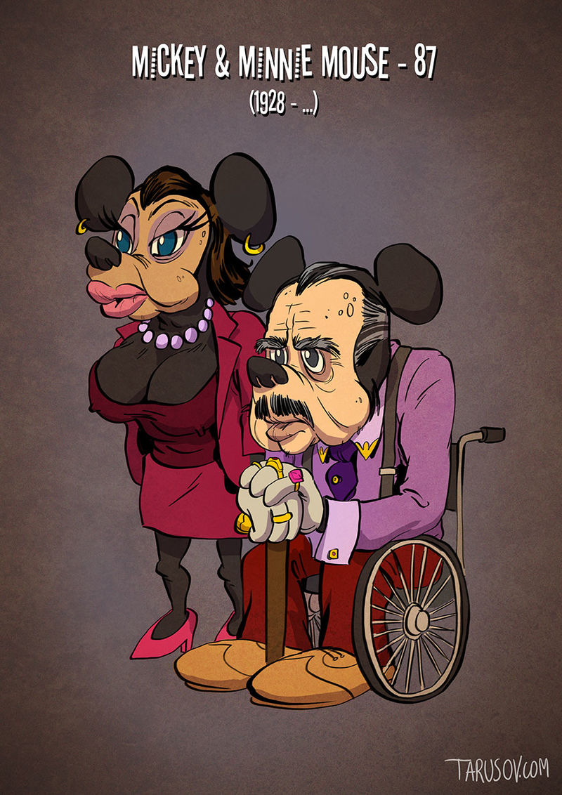 Aged Cartoon Portraits