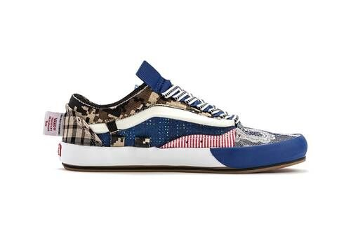 Patterned Casual Patchwork Sneakers