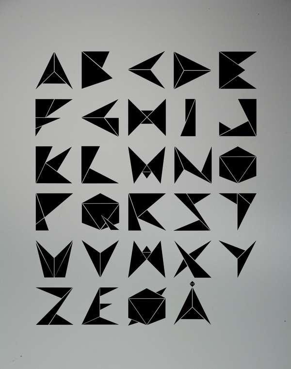 Paper Crane Lettering