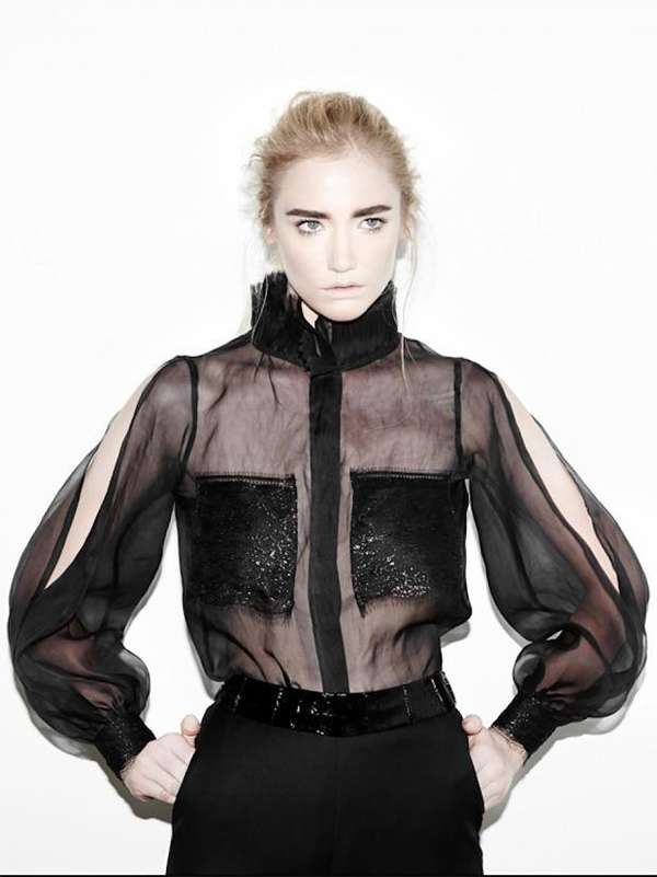 Edgy Sheer Fashion