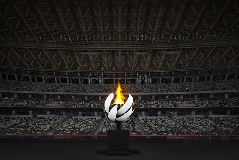 Cauldron-Like Olympic Sculptures