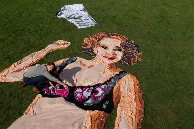Giant Underwear Sculptures