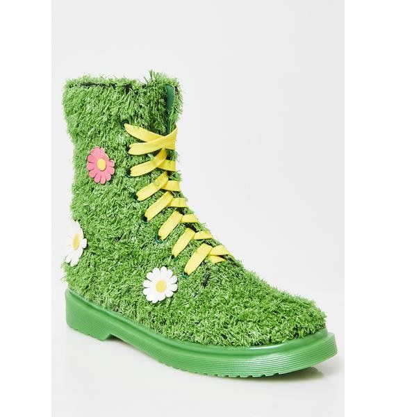 Grass-Inspired Combat Boots