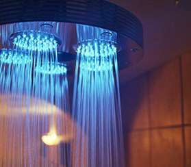 Ondine Illuminated Shower: Reenact Your Alien Abduction