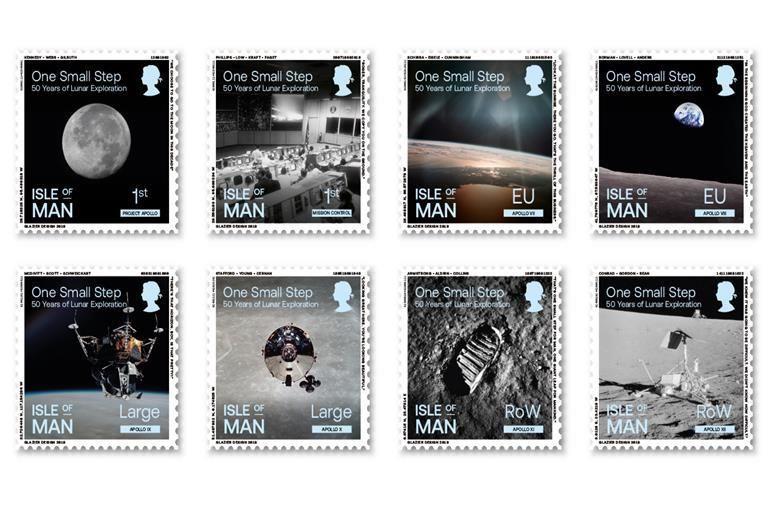 Lunar Landing Celebration Stamps