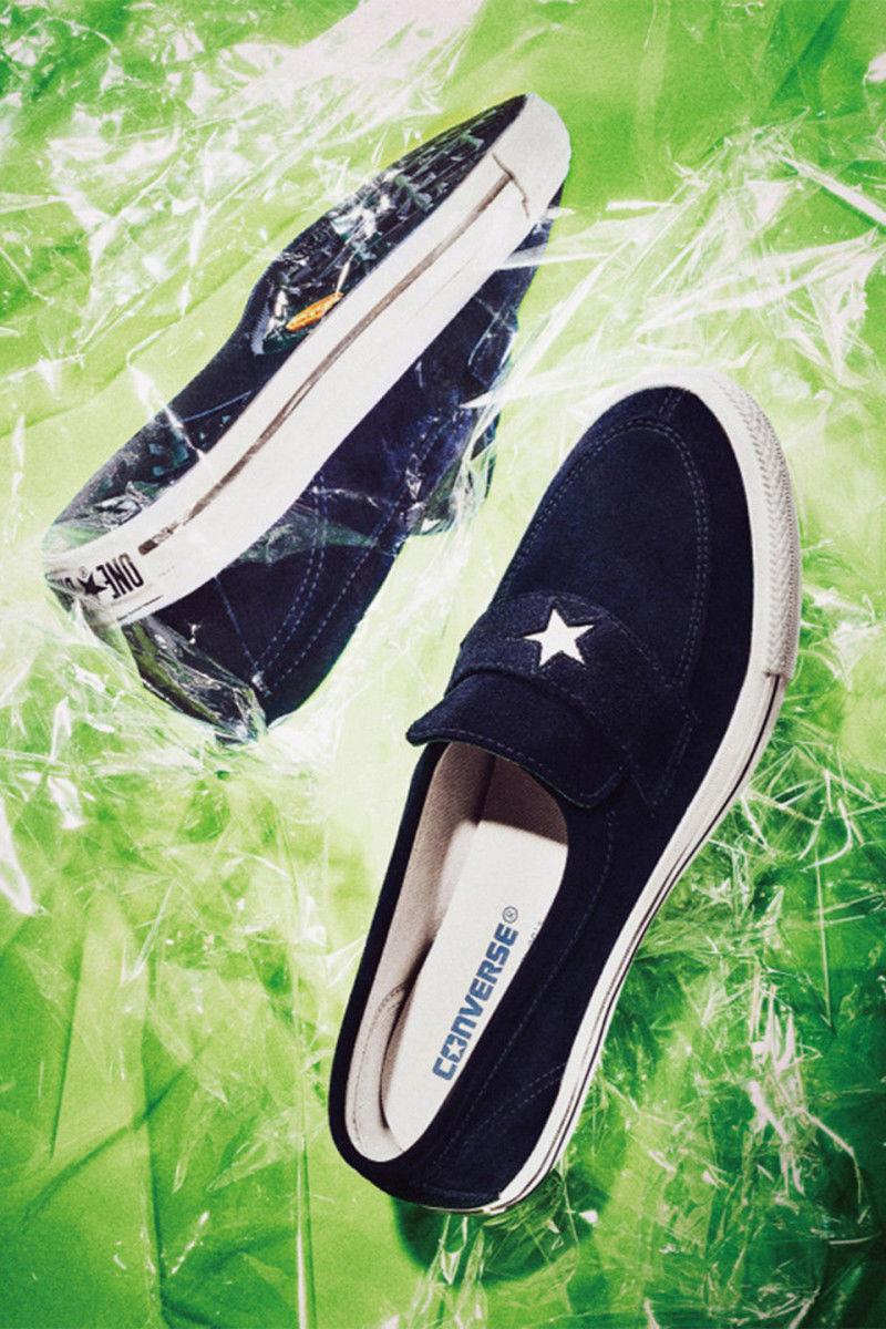 Star-Motif Suede Slip-Ons