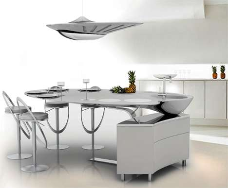 Futuristic Kitchen Chandeliers