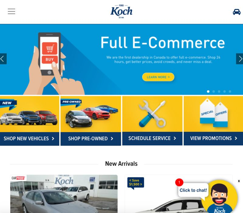 E-Commerce Dealerships