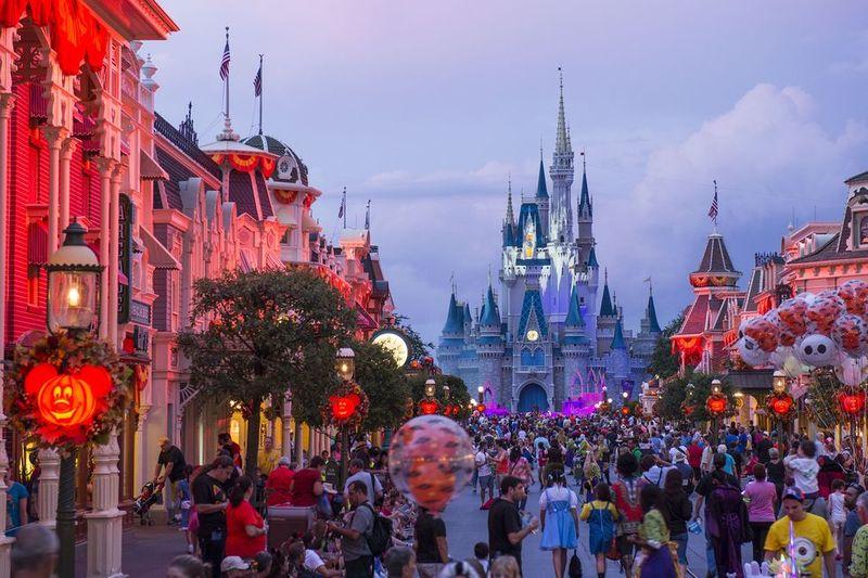 Theme Park Halloween Parties