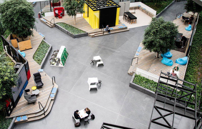 Communal Open Workspace Designs
