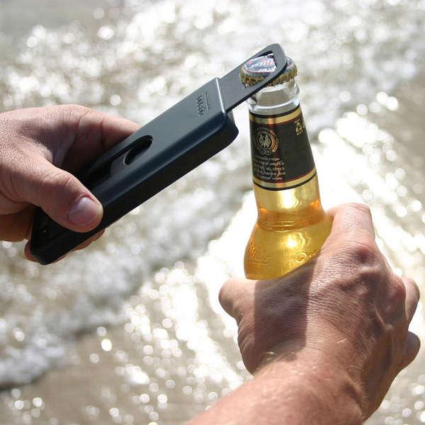 Bottle-Popping Smartphone Shields