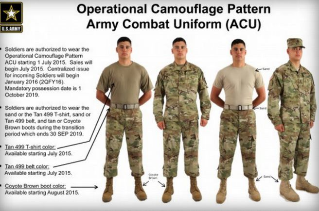Re Designed Army Uniforms Operational Camouflage Pattern