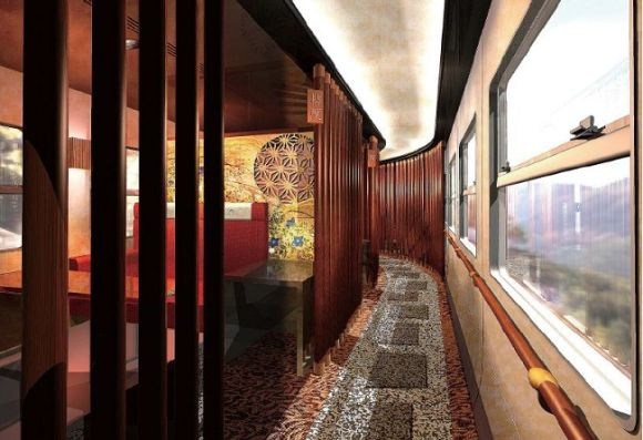 Opulent Train Accommodations