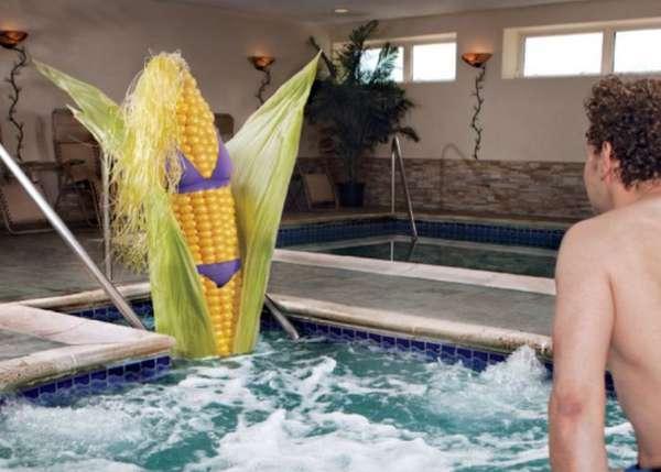 Bikini-Clad Corn Campaigns