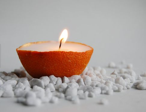 Homemade Citrus Candles