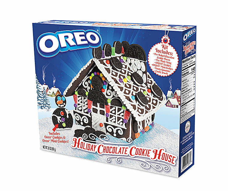 Chocolate Cookie Holiday Houses