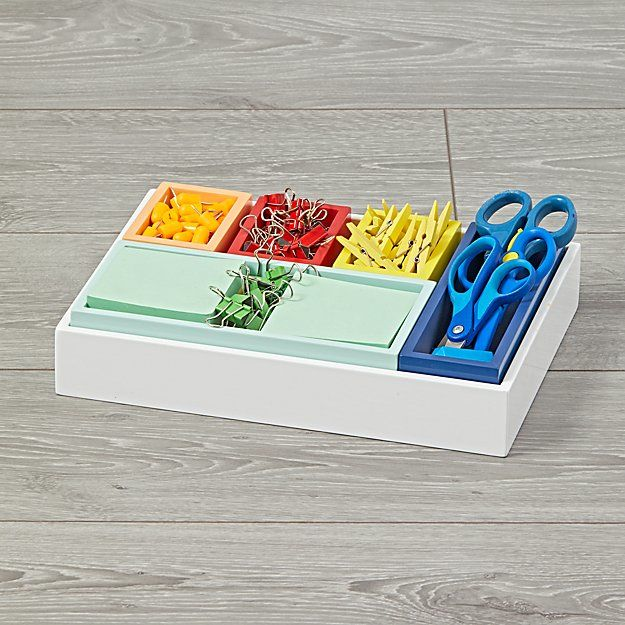 Multicolored Drawer Organizers