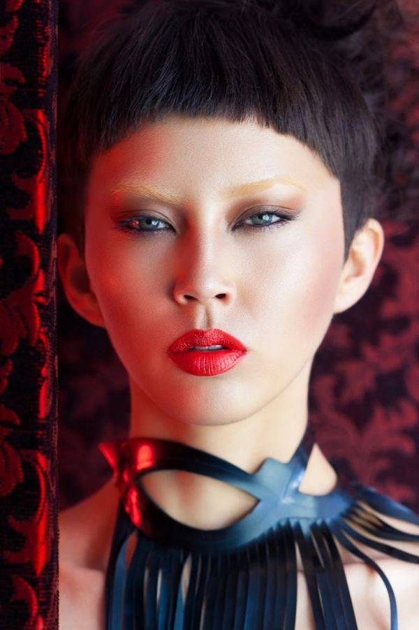 Edgy Geisha Portraits Oriental Beauty