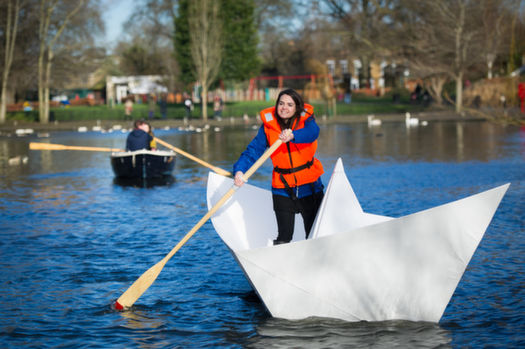 Gigantic Origami Boats