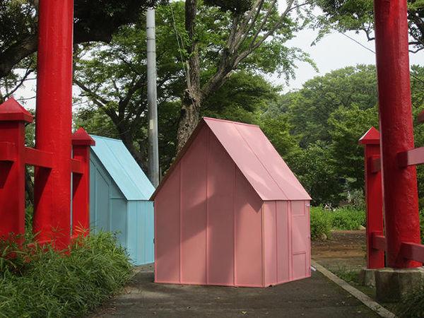 Paper Art-Inspired Shelters