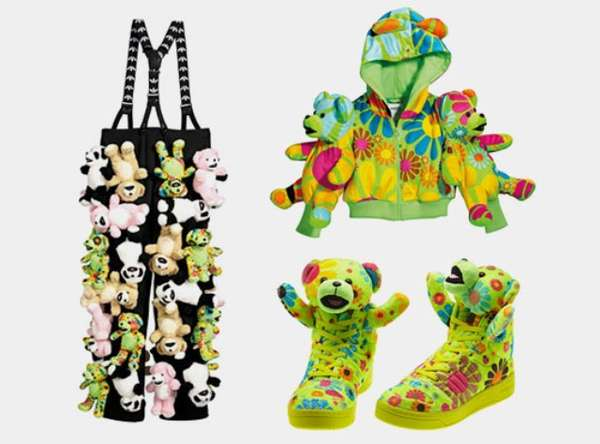 147ab9d56104c Psychedelic Teddy Bear Clothing   Originals x Jeremy Scott Fall