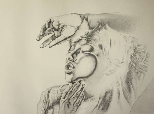 Flat-Faced Graphite Drawings
