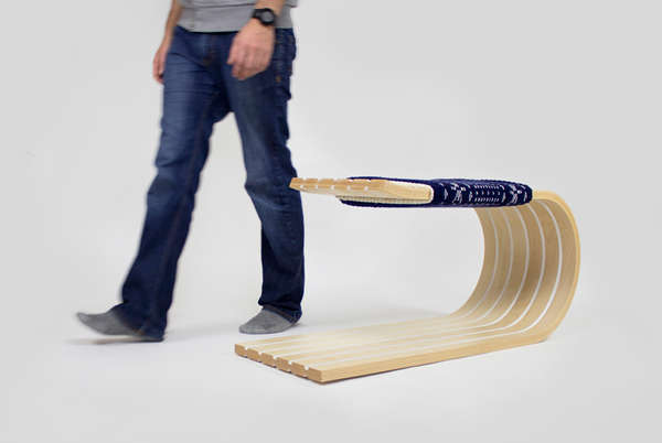 Sled-Shaped Benches