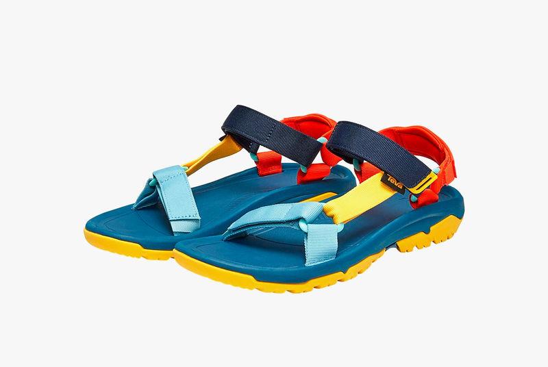 Color-Blocked Collaboration Sandals