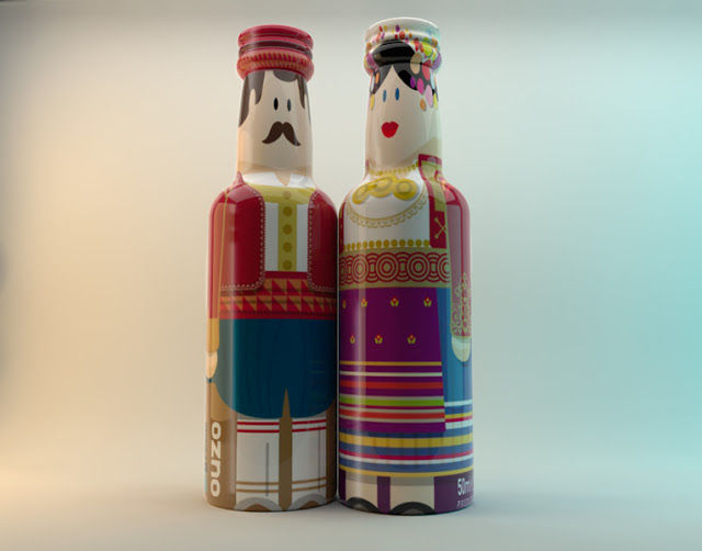 Cultural Doll-Shaped Bottles