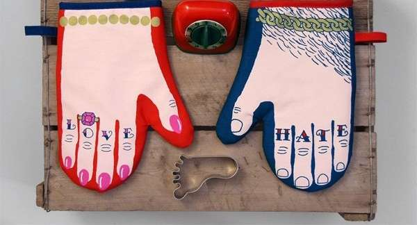 Handy Tattooed Oven Mitts