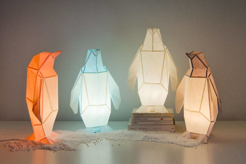 Animal-Inspired Paper Lamps