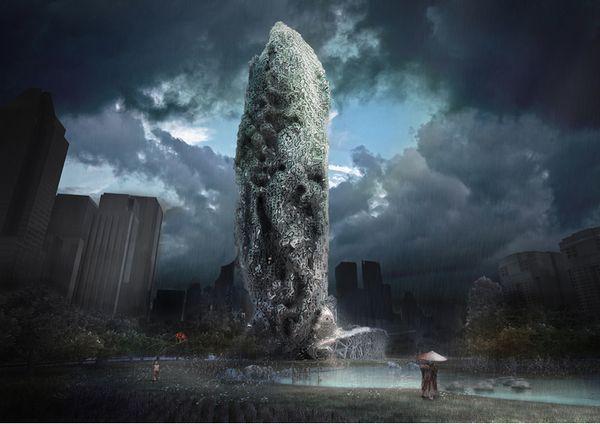 Otherworldly Eroding Architecture