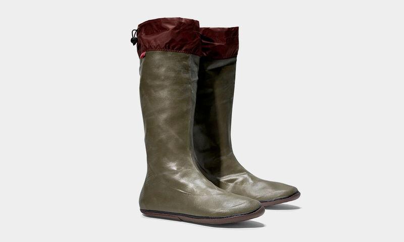Comfortable Travel-Ready Rain Boots  Packable Rubber Rain -1027