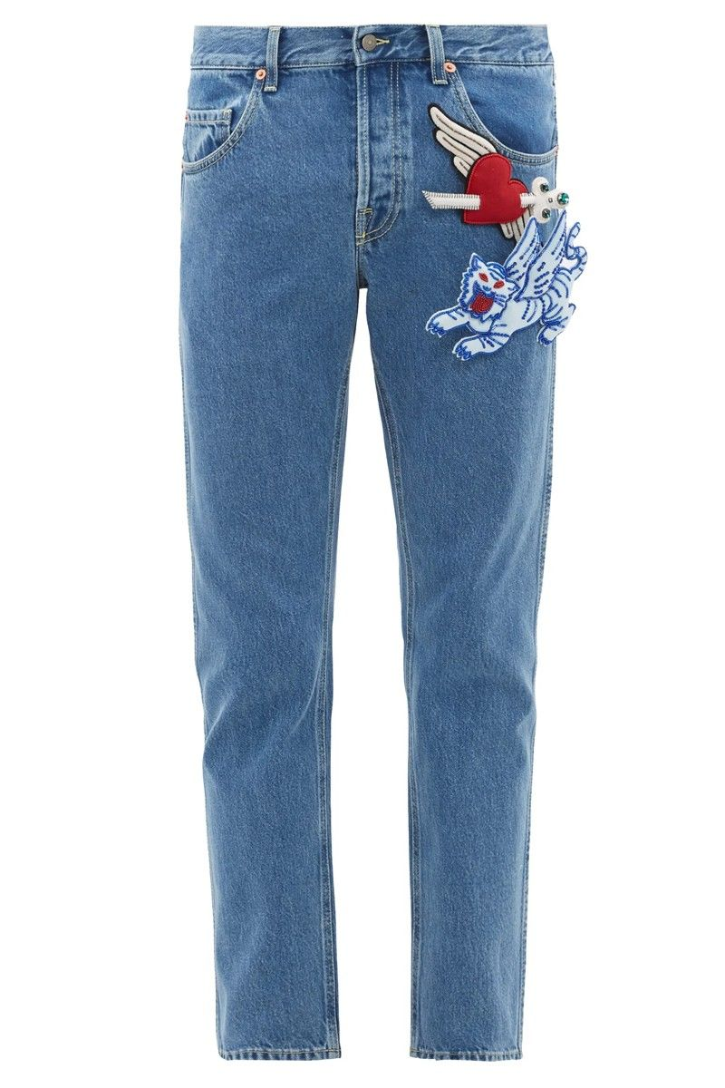 Tapered Patchwork Luxe Denim