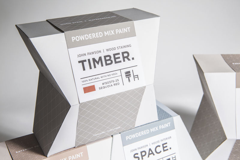 Geometric Paint Packaging