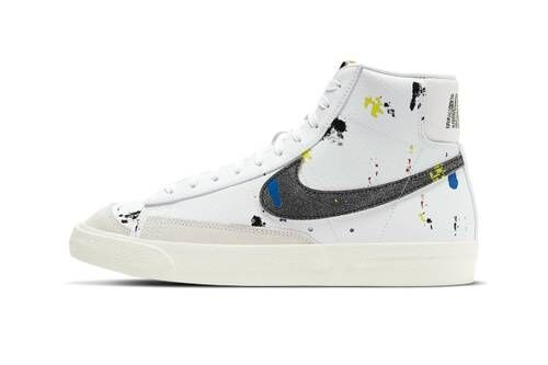 Speckling Paint Hi-Top Sneakers