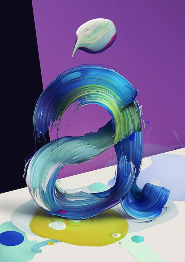 Paint Stroke Typography