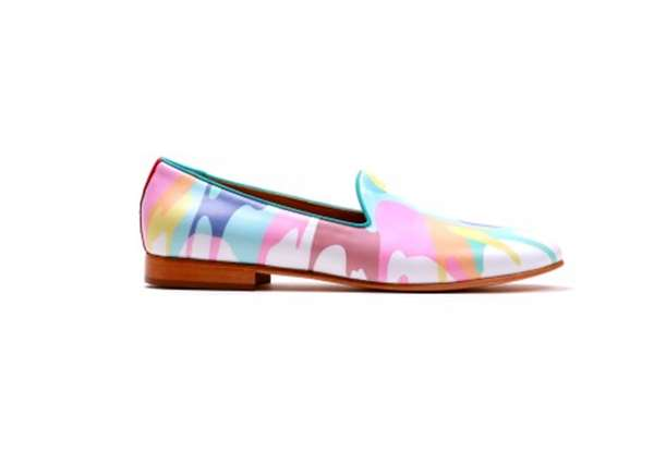 Technicolor Paint-Splattered Shoes