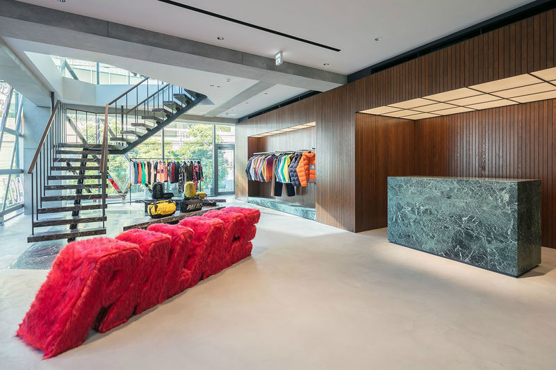 Minimalist Marble-Accented Shop Interiors